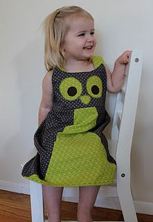 Owl Dress - I wish I could sew! I LOVE these, I can just see my three little owls all lined up in these adorable dresses!