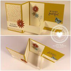 Stamp · Pray · Love: Z Fold Card with a Floating Strip