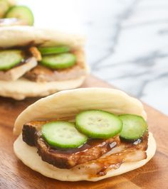 Happy Lunar New Year! I'm celebrating with these easy, made-from-scratch Chinese buns, which I stuffed with pork belly, scallions, cucumbers and hoisin sauce, inspired by the famous Momofuku's Pork Belly Buns. Each bun takes less than five minutes to prepare and cook. No dealing with yeast, steamers, etc. Chinese steamed buns come in various different …
