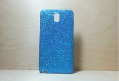 Glitter Case for Samsung Galaxy Note 3 Light Blue by shirleycatwong, $3.00 USD