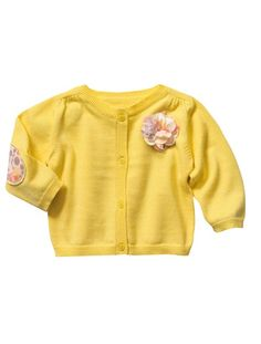 Baby Girl Cardigan YELLOW BRIGHT SOLID+PINK LIGHT SOLID WIT - vertbaudet enfant