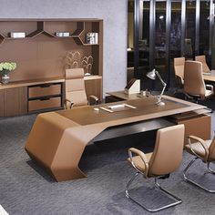 louis CEO Boss director office desk big size executive desk luxury office furniture table with – Executive Home Office Design Office Cabin Design, Office Space Design, Modern Office Design, Office Furniture Design, Luxury Furniture, Modern Office Table, Design Offices, Modern Offices, Office Designs