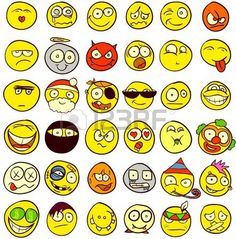 smiley face: A set of 36 smileys for every taste