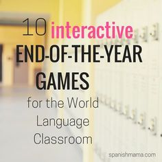 Interactive end of the year games for Spanish class.