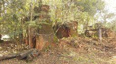 Forno de tijolos demolido