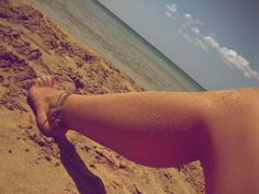 Summertime Foot by AkronadoreR.deviantart.com    #barefoot #barefeet #photography #beach #sand #summer