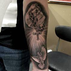 A devotion to mom tattoo on Dove Tattoos, Forarm Tattoos, Forearm Sleeve Tattoos, Best Sleeve Tattoos, Body Art Tattoos, Religous Tattoo, Fingerprint Tattoos, Cool Chest Tattoos, Jesus Tattoo
