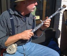 Walking Stick Banjo. One of a variety of homemade mountain- type musical…