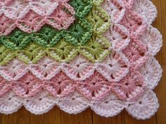 Bavarian Crochet Baby Blanket So pretty right? Also known as the 'Wool Eater' stitch … you have been warned! :) Hand crocheted by Irene522 on Ravelry