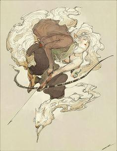 Commission - Kitsune by IJKelly on DeviantArt Art Folder, Character Design Inspiration, Story Inspiration, Aesthetic Art, Character Art, Character Ideas, Cool Drawings, Female Art, Art Inspo