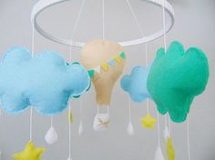Baby Moblie hot air balloon baby mobile baby mobile by SkandiDekor