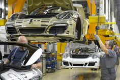 Inside the Porsche factory at Zuffenhausen