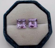 Amethyst Cushion Cross Cut Gem Pair 10mm #pinnaclediamonds