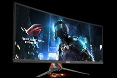 Asus' ROG Swift PG348Q gaming monitor bears a potent design with high-end specs