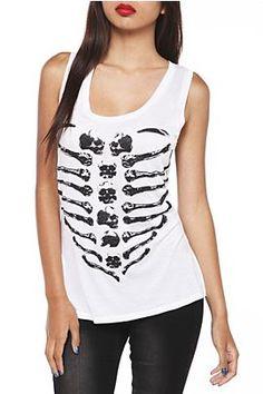 Heart Skull Rib Cage Sleeveless Top @ Hot Topic, $24.50