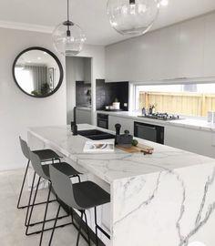 Kitchen Room Design, Modern Kitchen Design, Home Decor Kitchen, Interior Design Kitchen, New Kitchen, Home Kitchens, Kitchen Designs, Interior Modern, Country Kitchen