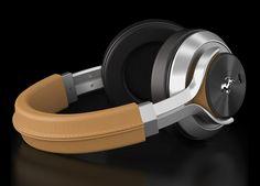 Ferrari by Logic3 Tan T350 Active Noise Cancelling (ANC) headphone
