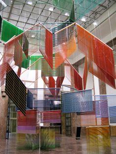 Haegue Yang, installation Haus der Kunst, 2012. Photo: Jens Weber.