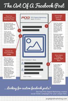 The art of a FaceBook post #infografia #infographic #socialmedia  #albertobokos