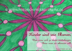 kindergarten poster mit blumen in pink und p dagogischem spruch von friedrich fr bel kinder. Black Bedroom Furniture Sets. Home Design Ideas