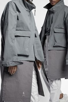 An Exclusive Closer Look at the A-COLD-WALL* x Nike Collaboration: Avant-garde sportswear. Military Fashion, Mens Fashion, Unisex Looks, A Cold Wall, Tactical Clothing, Winter Wonder, Field Jacket, Japan, Nike