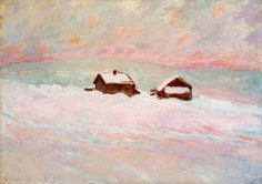 Claude Monet, Houses in the Snow, Norway, 1895. Oil on canvas.