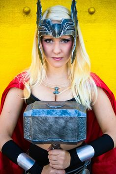 Buy directly from the world's most awesome indie brands. Or open a free online store. Lady Thor Cosplay, Halloween Costumes 2014, Female Thor, Cosplay Costumes, Cosplay Ideas, Indie Brands, Headpiece, Captain Hat, Marvel