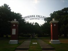 Gate to Louisiana College, Pineville, LA