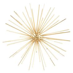 "11 1/8"" Gold Metal Wall Burst Ball"