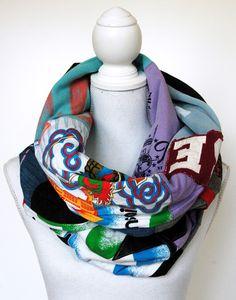 Upcycling-Loopschal aus T-Shirts, Jeanshose und mehr - Handmade Kultur