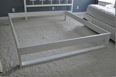 DIY Bed Frame Tutorial for under $50