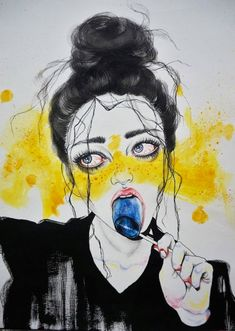 Some drawings by Sao Paulo-based Japanese Peruvian artist Harumi Hironaka. More images below.          Harumi Hironaka's Website