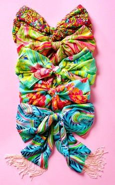 murfee scarves tied into bows!