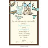 Lingerie Bridal Shower Invitations, Aqua Wild Thing, 20321