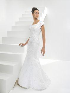 Modest Wedding Dress Bridal Designer Style MBD4140