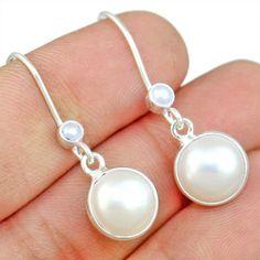 Pearl 925 Sterling Silver Earring Allison Co Jewelry E-1403 #Allisonsilverco