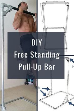 Build and outside pull up bar train dirty pinterest for Free standing bar plans