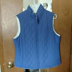 NWT Violet Vest with Soft Fuzzy Lining NWT Free Country vest, adult medium. Lovely shade of violet, looks a little too blue in the photos. Never worn. Pockets and a soft fuzzy white lining inside the vest. So comfy! Free Country  Jackets & Coats Vests