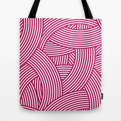 New Weave in Pink Tote Bag by House of Jennifer - $22.00