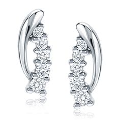 Diamond ½ct. t.w. Cascade Earrings in 14K White Gold