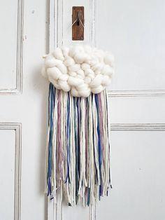 Fluffy personalizada nube tejido colgante de pared decoración
