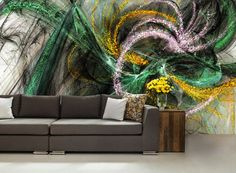 3D ABSTRACT MURAL Abstract Wall Mural Color Wall By 4KdesignWall Part 70