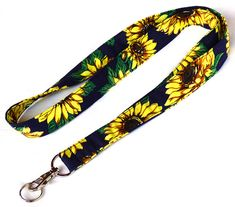 Sunflowers Lanyard. Key Lanyard. Flowers by LiVeCameraStraps