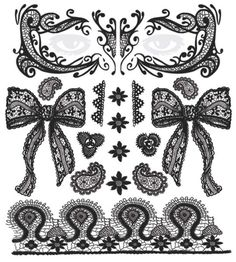 Black lace tattoo kit for face, neck and body by Tinsley Transfers temporary tattoos.#t4aw #temporarytattoo #tinsleytransfer #lace #face #tattookit