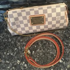 Louis Vuitton Eva Azur 2015 New Brand new condition only a few months old Eva Azur - complete with strap, dustbag, tags and original receipt. PM if interested. Louis Vuitton Bags Crossbody Bags