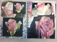 Flowers Art Sketchbook Inspiration 25 Ideas For 2019 A Level Art Sketchbook, Sketchbook Layout, Sketchbook Inspiration, Sketchbook Ideas, Fashion Sketchbook, Art Sketches, Art Drawings, Decay Art, Natural Form Art