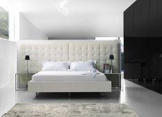 Ligne Roset Cineline Bed- I love upholstered headboards