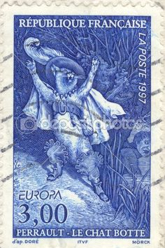 Vintage postage stamp. Cat in boots — Stock Photo © Sergey Ozerov #2809827