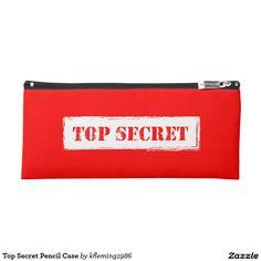 Top Secret Pencil Case
