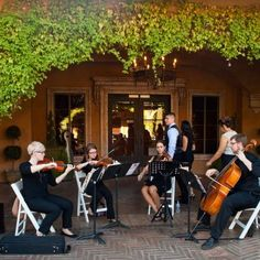String Quartet Provided Music For The Processional And Recessional During Outdoor Wedding Ceremony